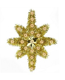 Star Of Bethlehem Christmas Tree Topper-Clear Lights