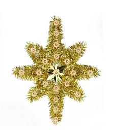 Star Of Bethlehem Christmas Tree Topper-Clear Lights