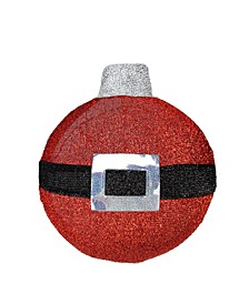 LED Lighted Santa Belt Ornament Hanging Christmas Wall Decor