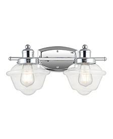 Orleans 2-Light Schoolhouse LED Vanity Light