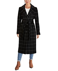 Single-Breasted Belted Maxi Coat