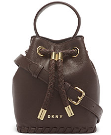 DKNY Leather Winnie Small Bucket