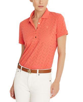 로렌 랄프로렌 Lauren Ralph Lauren Embroidered Polo Shirt