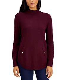 Mock-Neck Round-Hem Sweater, Created for Macy's