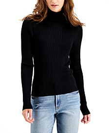 Juniors' Ribbed Turtleneck Sweater
