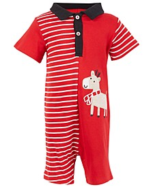 Baby Boys Reindeer Sunsuit, Created for Macy's