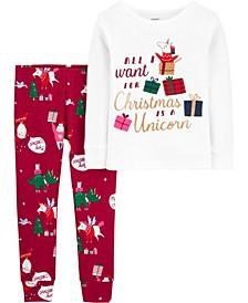 Toddler Girl 2-Piece 100% Snug Fit Cotton PJs