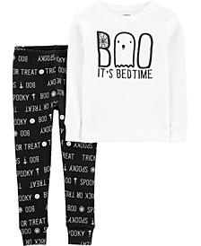 Toddler Boy & Girl 2-Piece Boo Halloween Snug Fit Cotton PJs
