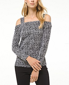 Jacquard Cold-Shoulder Top