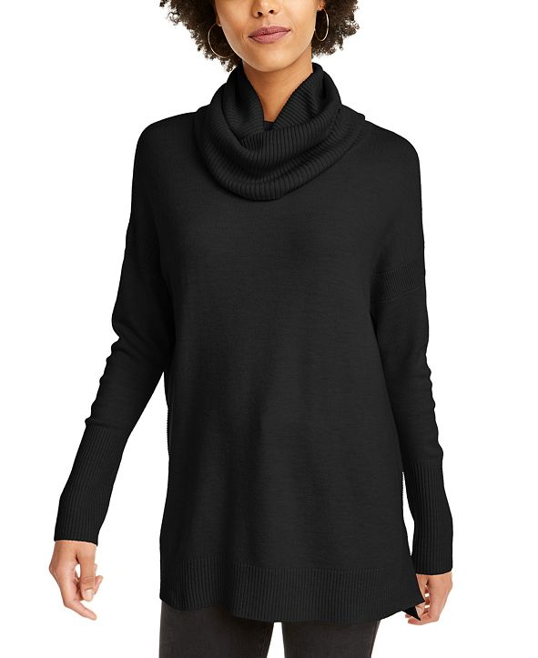 French Connection Cowl-Neck Step-Hem Sweater