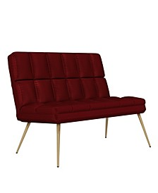 Gregor Modern Tufted Armless Loveseat