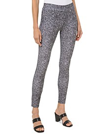 Plus-Size Tweed Pull-On Leggings