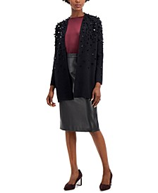 Paillette Open-Front Cardigan, Created for Macy's