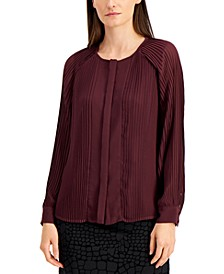 Pleated Blouse, Created for Macy's