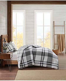 Flannel Plaid Twin Comforter Set