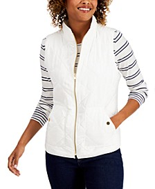 Petite Quilted Vest, Created for Macy's
