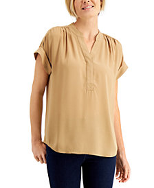 Charter Club Split-Neck Top, Created for Macy's