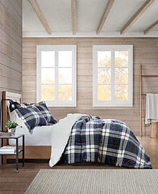 Sherpa Plaid Full/Queen Comforter Set