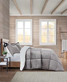 Sherpa Solid Comforter Set