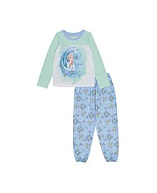 Frozen Little and Big Girls 2-Piece Pajama Set
