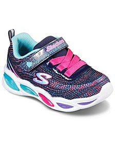 Toddler Girls S Lights Shimmer Beams Sparkle Glitz Stay-Put Closure Light Up Running Sneakers from Finish Line