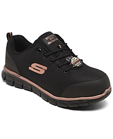 Women's Work Sure Track Chiton Alloy Toe Slip Resistant Work Sneakers from Finish Line