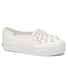Women's Triple Decker KS Soft Lurex with Crystals Sneaker