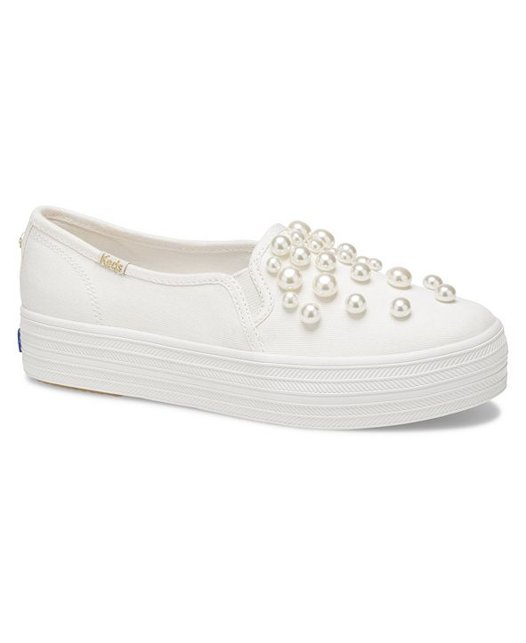 kate spade new york Women's Triple Decker KS Soft Lurex with Crystals Sneaker