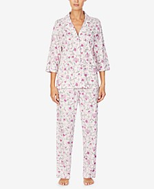 Petite Floral-Print Pajama Set