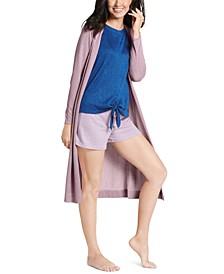 Ultra-Soft Ribbed Long Cardigan
