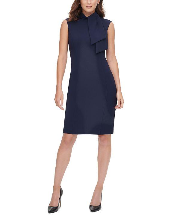 HARPER ROSE Tie-Neck Sheath Dress