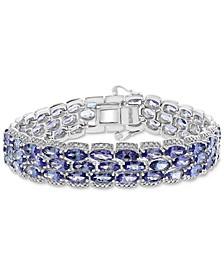 EFFY® Tanzanite Marquise Triple Row Bracelet (26-5/8 ct.t.w.) in Sterling Silver