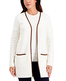 Milano Cotton Open-Front Cardigan, Created for Macy's