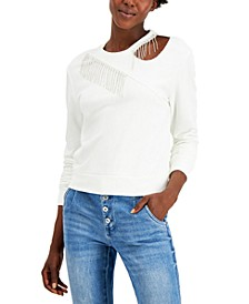 INC Embellished Cutout Sweatshirt, Created for Macy's