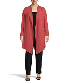Plus Size Drape-Front Jacket