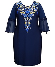 Plus Size Parisian Holiday Dress, Created for Macy's