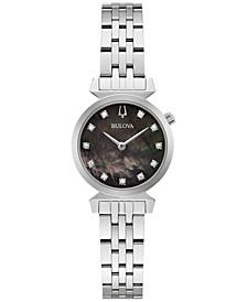 Women's Classic Regatta Diamond-Accent Stainless Steel Bracelet Watch 24mm
