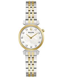 Women's Classic Regatta Diamond-Accent Two-Tone Stainless Steel Bracelet Watch 24mm