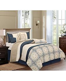 Athens 7-Piece Queen Comforter Set