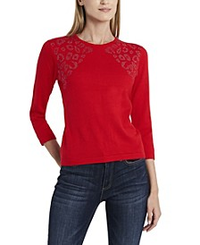 Women's Studded Shoulder Sweater