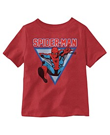 Little Boys Jumping Spiderman Graphic T-shirt
