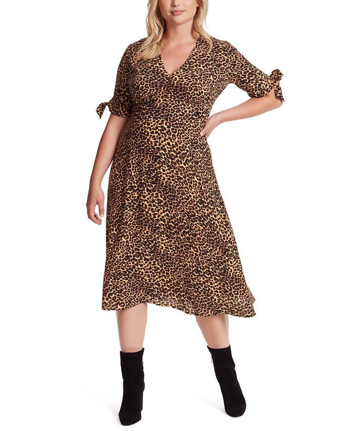 Jessica Simpson - Trendy Plus Size Printed A-Line Dress