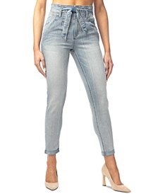 Juniors' Double-Rolled Super High-Rise Skinny Jeans