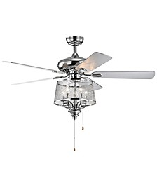 "Elish 52"" 2-Light Indoor Hand Pull Chain Ceiling Fan with Light Kit"
