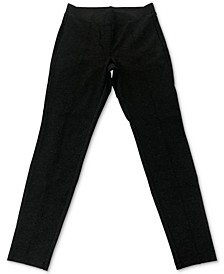 Petite Heathered Seam-Front Ponté-Knit Pants, Created for Macy's