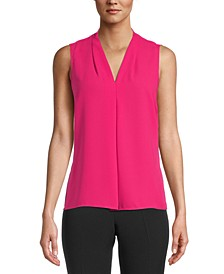 Pleated V-Neck Top, Created for Macy's