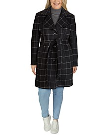 Plus Size Single-Breasted Notch-Collar Coat