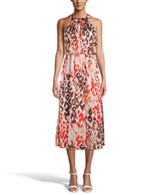 Printed Chiffon Halter Dress, Created for Macy's