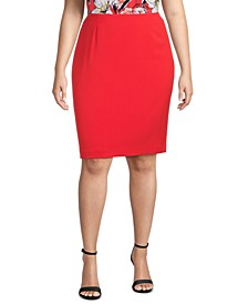 Plus Size Pencil Skirt