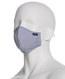 Men's and Women's Reusable Rounded Woven Fabric Face Masks, Pack of 3